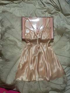 Victoria's Secret satin and lace slip lingerie