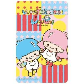 雙星仙子 2018 iPass一卡通 雙子星 Little Twin Stars全新空卡 kikilala Sanrio