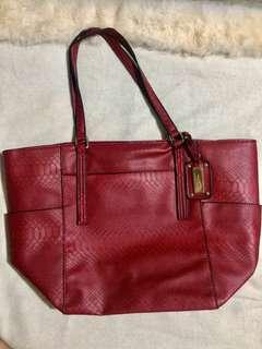 Mango Touch Red Shoulder Bag