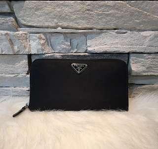 Prada Nylon Leather Wallet Authentic