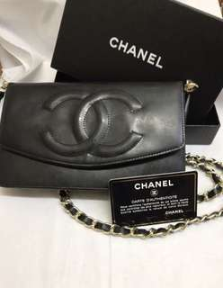 Chanel vintage long wallet WOC