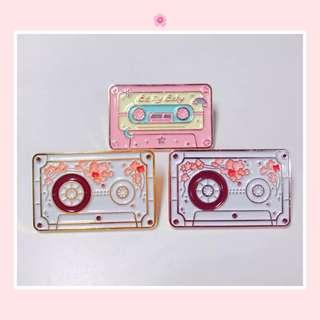 Wanna One Caset Enamel Pins