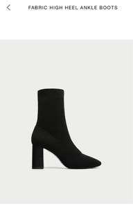 Zara Sock Boots Size 9
