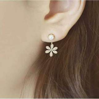 Korean Flower Earring
