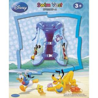 🚚 Disney Mickey Mouse and Friends Blue Inflatable Swimming Vest Float