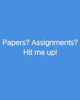Paper/ Assignment Help