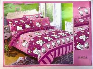 6 in 1 Hello Kitty Bedsheet Set