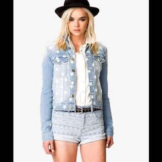 Forever 21 star denim jacket