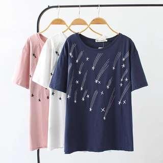 (XL~4XL) Summer dress loose short-sleeved t-shirt