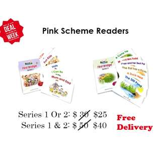 MONTESSORI PHONICS PINK /BLUE SCHEME READERS - SERIES 1 & 2