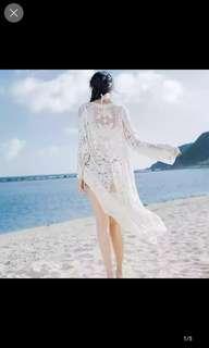 🚚 🌺夏季蕾絲繡花開襟完美百搭外套       989232