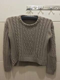 Light mocha crop sweater