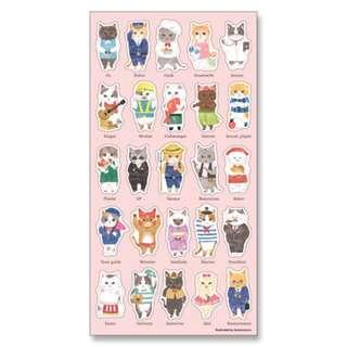 🚚 貓咪の職業 日系貼紙