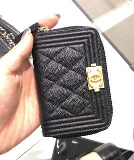 Chanel Boy Card Holder/Wallet