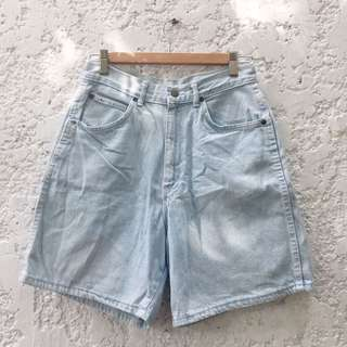 Light Denim High Waisted Shorts