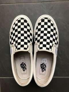 Vans Og classic slip-on checkerboard size 8 original