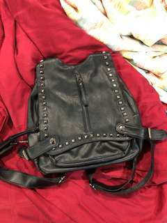 Cute studded faux leather backpack