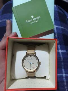 Repriced!Authentic Kate Spade 5 o'clock Metro watch