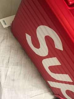 Rimowa x supreme red 45 L