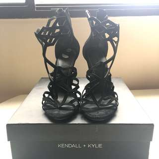 Kendall + Kylie Black Suede Stilettos (Size 10) OBO