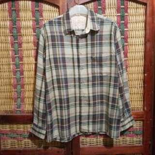 Diamond Kemeja Flanel Kotak Pria Size L not Sweater Jaket