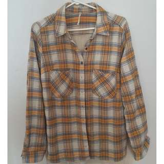Free People Behind the Flannel Multi-Panel Buttondown Long Sleeve Shirt