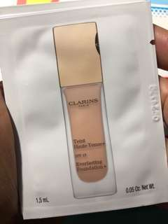 clarins teint haute tenue+ everlasting foundation 1.5ml