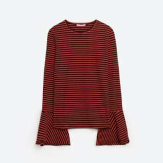 ZARA Bell Sleeve Top! SMALL