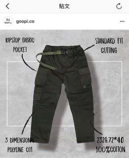 🚚 誠收Goopi軍褲2號 黑/軍綠