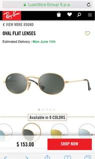 Ray ban oval sunglasses RB 3547