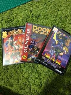 Sega Mega Drive - Mercs 2 & Doom Troopers & Contra (repro)