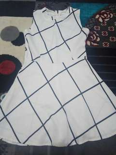 Mini Dress Black and White