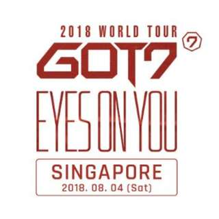 【CAT1 Front Seats】GOT7 in Singapore