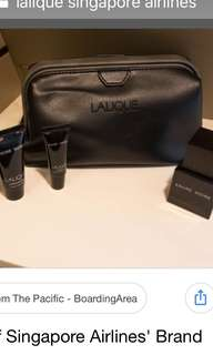 Lalique Singapore Airlines first class men toiletries kit brand new