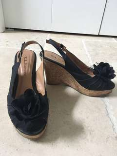 Chinese Laundry Wedge Slingback Heels (size 6)