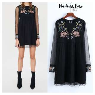 Black Camel Sheer Dress