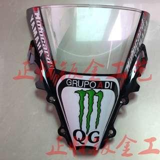 Yamaha YZF R6 wind screen windscreen windshield shield racing motocard monster