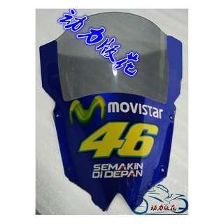 Yamaha YZF R6 wind screen windscreen windshield shield racing movistar 46 semakin di depan motogp