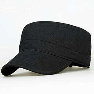Black Army Flat Top Cap
