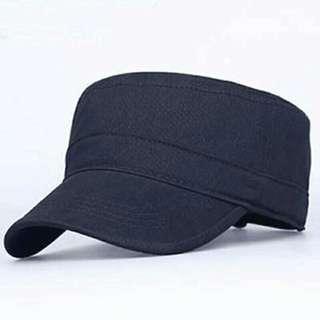 Navy Blue Army Flat Top Cap