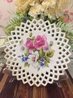 Decorative Plate - pink Roses