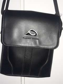 Planet ocean sling bag real leather