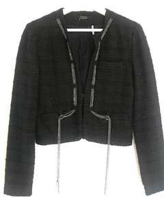 Marciano Black Tweed Jacket Size Small