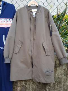 Standard Long Jacket Khaki color