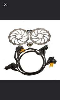 Magura MT2 with a pair of 160mm disc rotors