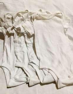 4 white onesies!