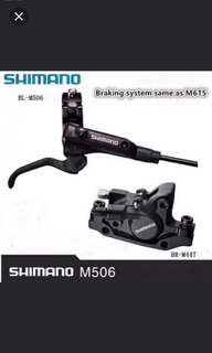 Brand new!  SHIMANO M506/M447 HYDRAULIC BRAKE set with free Disc rotor 1 set