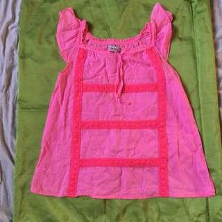 Aythentic old navy hot pink top preloved