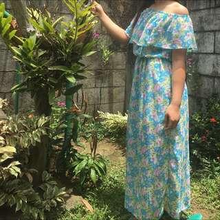 Preloved floral summer maxi dress