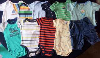 Set of preloved clothes onesies for baby boy 6-9 months